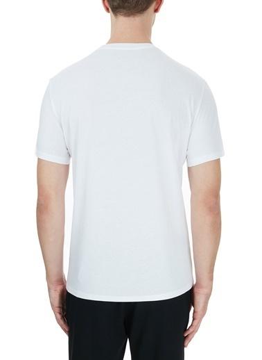 Armani Exchange  % 100 Pamuklu Baskılı Bisiklet Yaka T Shirt Erkek T Shırt S 6Hztgd Zjh4Z 1100 Beyaz